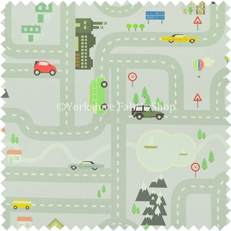 fabric pattern map on the road map children play mat car pattern printed
