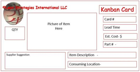 kanban card template kanban card templates