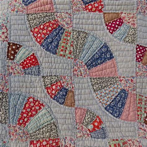 Fan Quilt Patterns by Ohio Farm Flour Sack Quilt Fan Pattern Patchwork Stitc