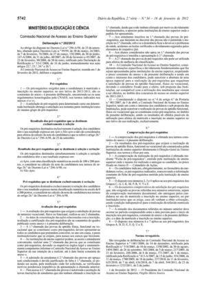 Calaméo - Acesso ao ensino superior - pré-requisistos 2012