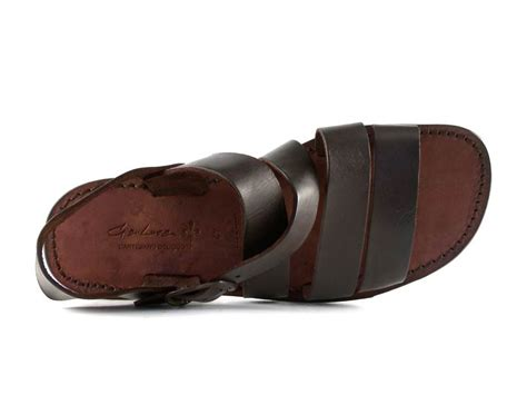 mens leather sandals made in italy handmade in italy mens sandals in brown leather