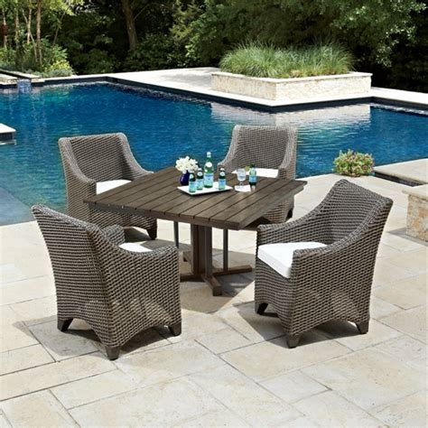woodard patio furniture reviews woodard augusta 5 wicker patio dining set wc