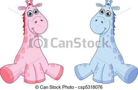 Girraffe Baby Blue Pink 20 Inch 50 Cm clip vector of baby giraffes csp5318076 search