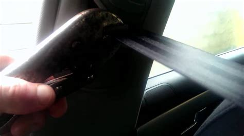 unlock locked seat belts after accident repair youtube