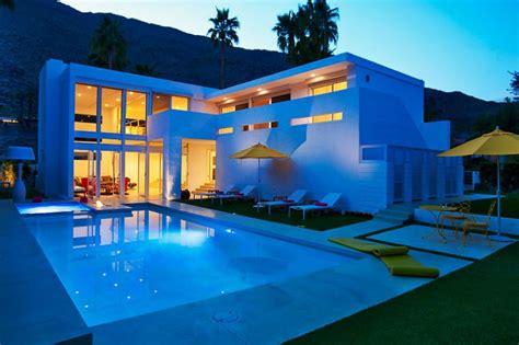 pool houses where design and divine meet california el portal in palm springs california homedsgn