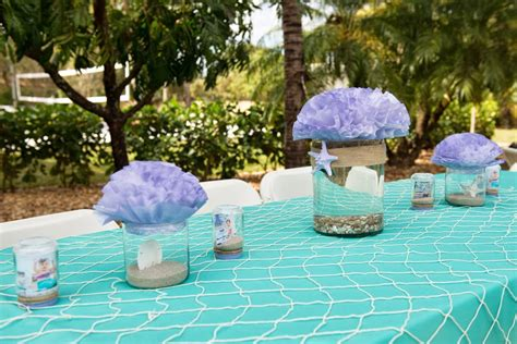 Ariel Table Decorations by The Mermaid The Frosted Petticoat