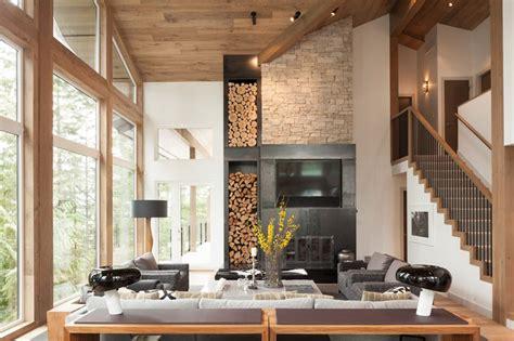 Cheminee Interieur Maison by Am 233 Nagement Int 233 Rieur Moderne D Une Maison Au Canada