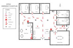 Emergency Exit Floor Plan Template by Ezblueprint