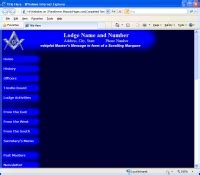 Masonicpages Com Free Website Hosting For Masonic Lodges Shrine Grotto Scottish Right York Right Freemason Website Templates