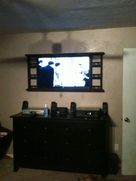 mounted tv in bedroom ana white country style wall mount for bedroom tv diy