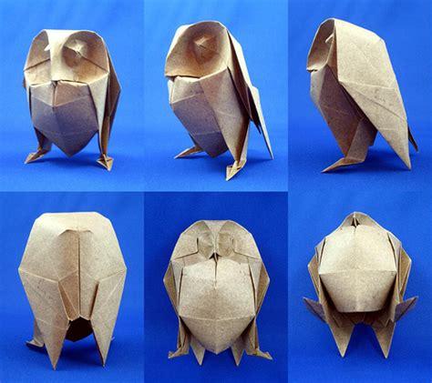 Joseph Wu Origami - owl inspired by davor vinko davor vinko s owl is a