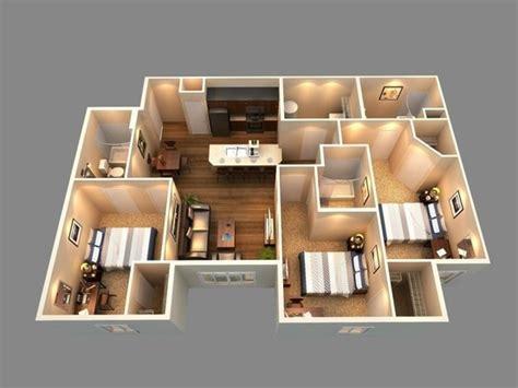 cheap 3 bedroom house plans interior design ideas 152 best images about 3d plans on pinterest young