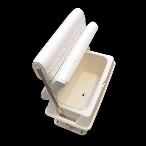 boat cooler seat frame wise 156 white 70 qt offshore swing back boat storage