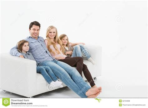 couch family family on the couch stock photo image 52134608