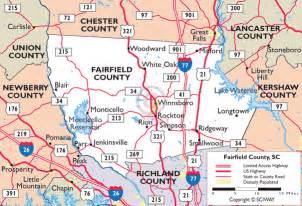 maps of fairfield county south carolina