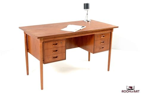 mid century desk mid century writing desk in teak modernism
