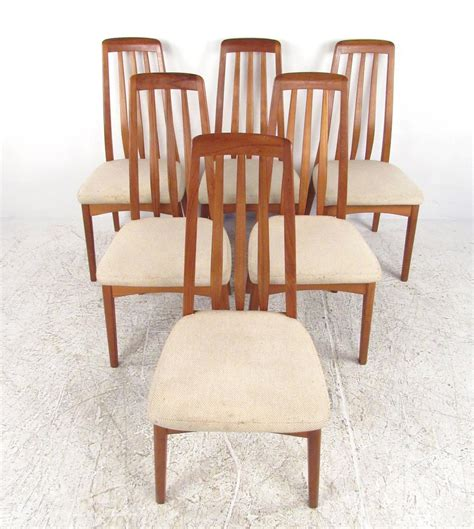 mid century modern dining table set mid century modern teak dining set with