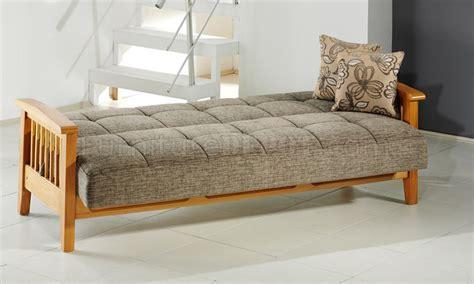 wooden sleeper couch fume microfiber living room w wooden frame storage sleeper