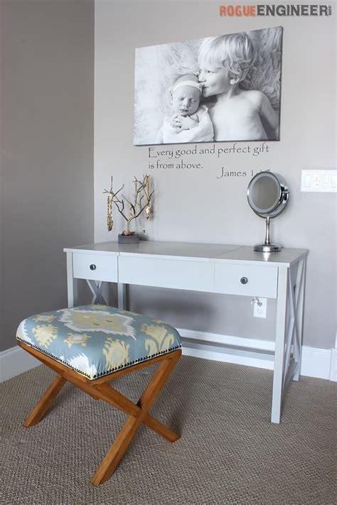 flip top vanity diy furniture projects diy furniture