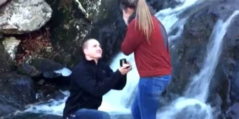 c section gone wrong waterfall wedding proposal goes horribly wrong the