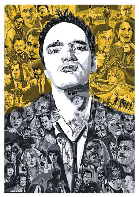 quentin tarantino film art quentin tarantino a portrait of the director made up of