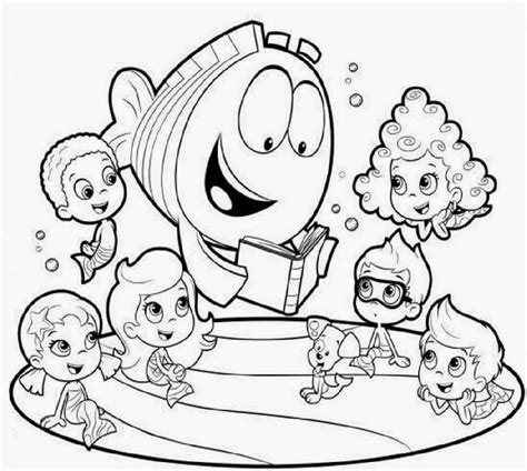 Bubble Guppies Coloring Pages Games | mesmerizing printable bubble guppies coloring pages book