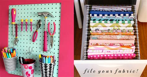 diy craft organizing ideas 50 clever craft room organization ideas page 2 of 10