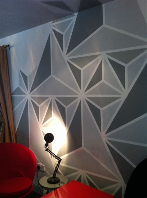 Bedroom Painting Ideas geometric wall painting ideas weneedfun