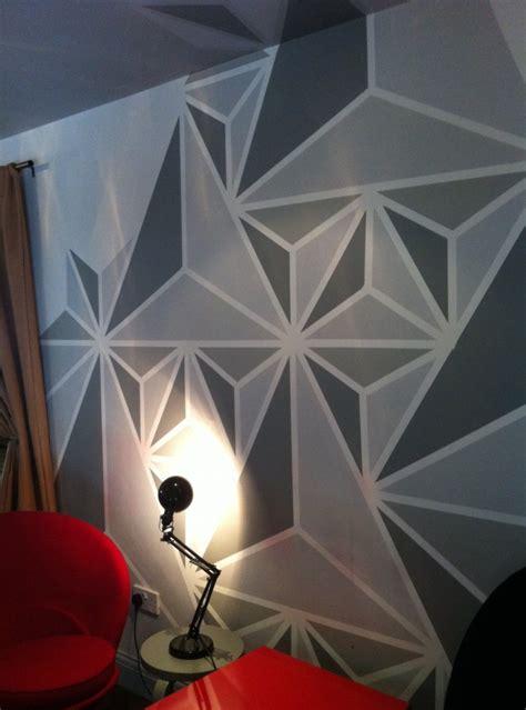 Livingroom Colors Geometric Wall Painting Ideas Weneedfun