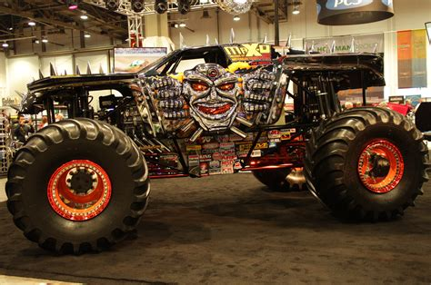 monster truck jam las maximum destruction monster truck rear three quarters