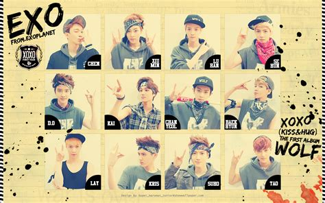 exo xoxo iphone wallpaper exo 1st album quot xoxo kiss hug quot wallpaper by super