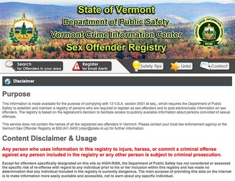 Criminal Registry Vt Registry Big