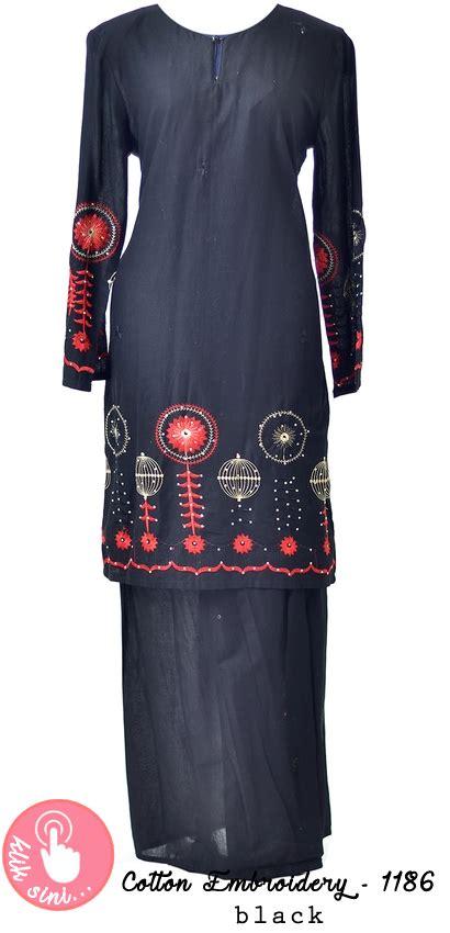 Baju Shilpa Black 1 koleksi baju kurung moden dan tradisional