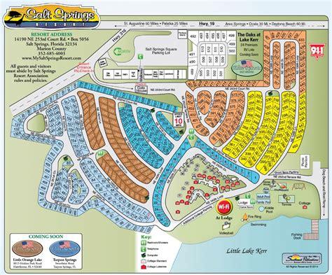 florida cground map salt springs cground florida map of the resort
