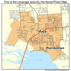 aerial photography map of pace fl florida