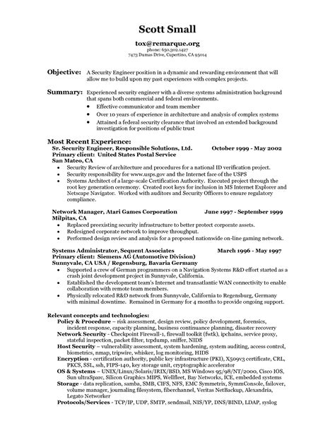 security resume format entry level security guard resume sle and resume template