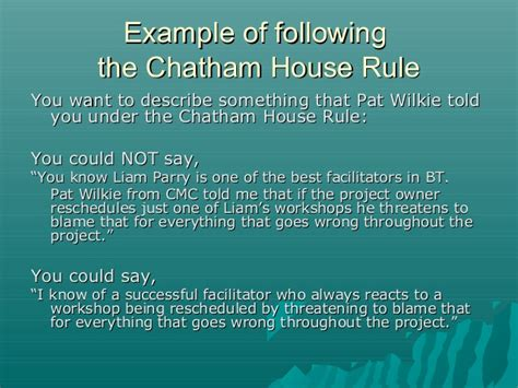 chatham house rules ground rules