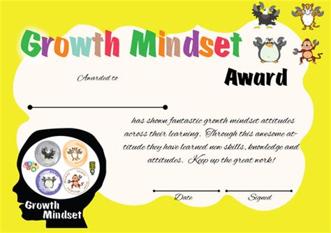 Growth Mindset Classroom Management And Reward System By Jmcmeekin Teaching Resources Tes Growth Mindset Template