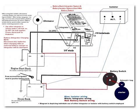diagram of a battery battery isolator wiring diagram efcaviation