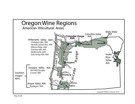 map of oregon vineyards us oregon wine map swe