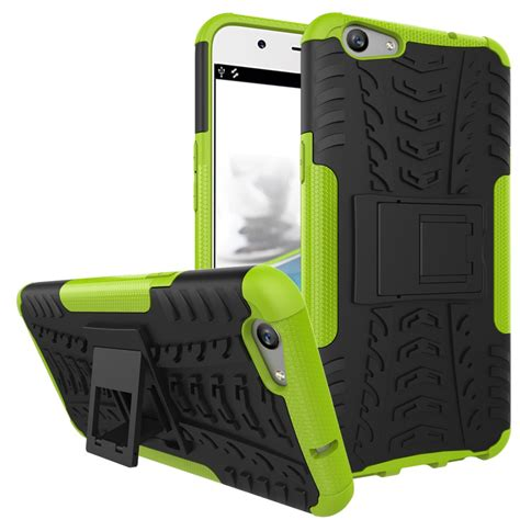 Oppo F1s A59 Kick Stand Cover Casing Rugged Armor Keren Bagus for oppo f1s a59 heavy duty tpu shockproof hybrid kick