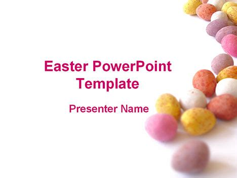 template powerpoint easter easter pastel eggs powerpoint template