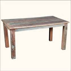 Distressed Wood Kitchen Table Rustic Reclaimed Wood Distressed Kitchen Dining Table Furniture Ebay