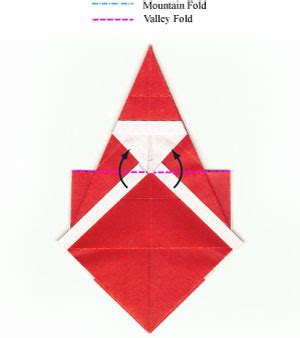 Make Origami Santa Claus - how to make a simple origami santa claus page 11