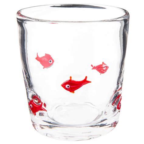bicchieri di bicchiere in vetro con motivi di pesci maisons du