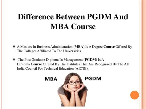 Difference Between An Mba And Masters by Pgdm Vs Mba