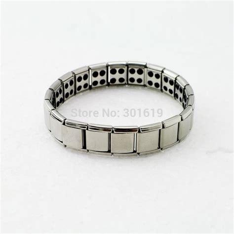 Magnet Country Titaniumsale sale silver titanium health bracelet power nano energy germanium magnetic balance ion powerful