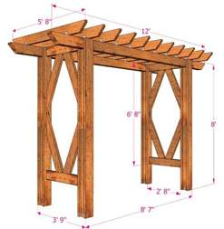Swing Arbor Plans diy grape arbor free building plan a piece of rainbow
