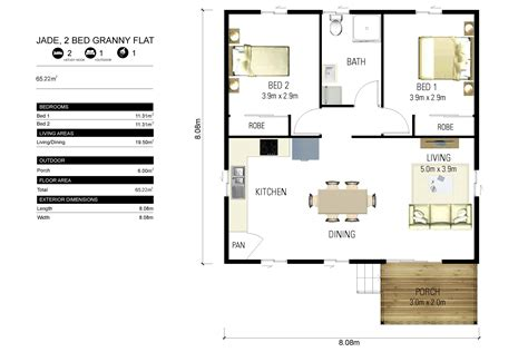1 bedroom granny flat floor plans granny flat building plans south africa with 1 bedroom