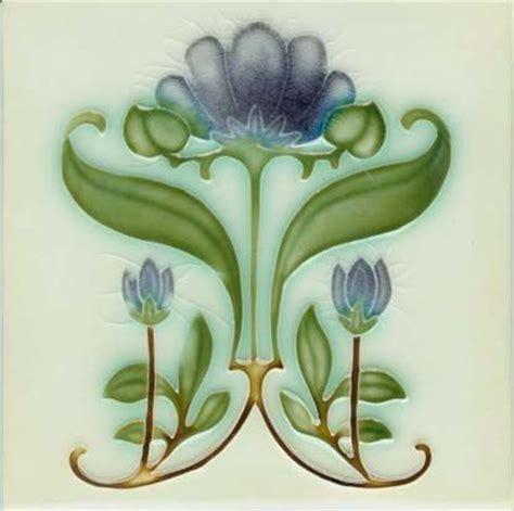 Beadboard Kitchen Backsplash by Art Nouveau Flower Tile Kitchen Ideas Pinterest